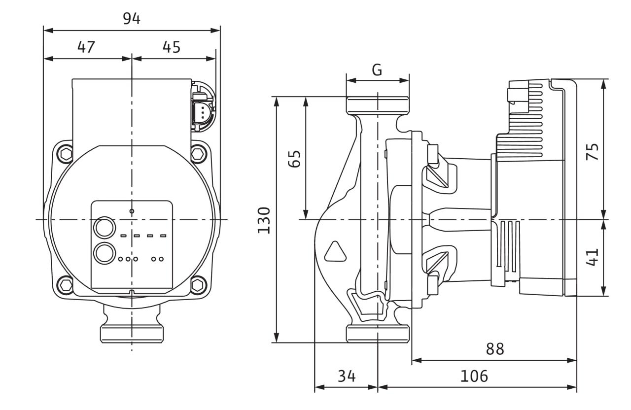 Wilo-Varios-PICO-STG-15-1-8-130mm-4232742_Masszeichnung