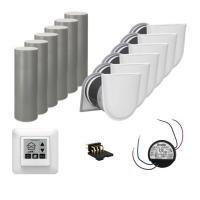 Viessmann Wohnungspaket Zu-/Abluftsystem 6x Vitovent 100-D weiß - Lieferumfang - 6 x Z014868 Vitovent 100-D, Typ H00E A45 1 x ZK02709 Bedienteil Touch 6 x...