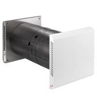Dezentrales Zehnder Komfort-Lüftungsgerät ComfoSpot 50 Außenwandhaube Kunststoff Gesamtansicht Selfio