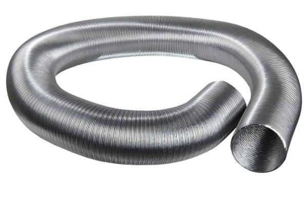 COMPACT-Flexrohr Aluminium für Kleinraumventilatoren 2-lagig, 80 x 87 mm, 5 m Selfio