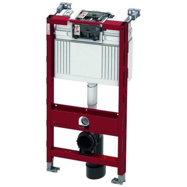 TECEprofil WC-Modul mit TECE-Spülkasten, Betätigung vorne oder oben, Bauhöhe 980 mm