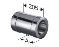 Schornstein Längenelement 205 mm mit Kondensatablauf doppelwandig DW DN 130