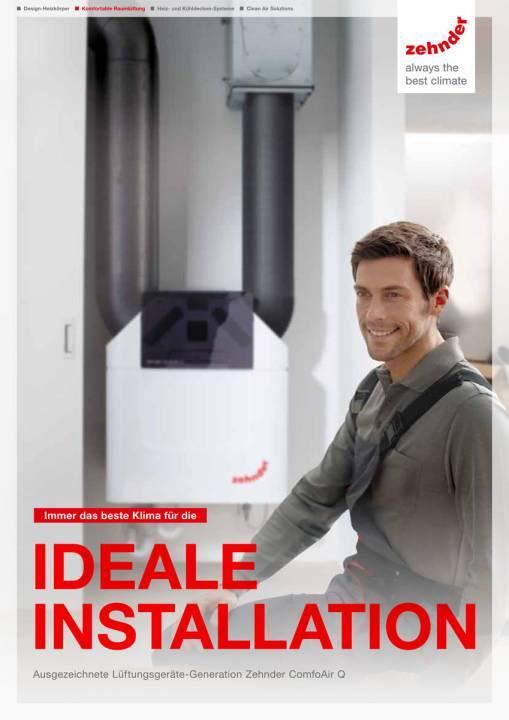 Produktbroschüre zentrale Lüftungsanlage Zehnder ComfoAir Q Selfio