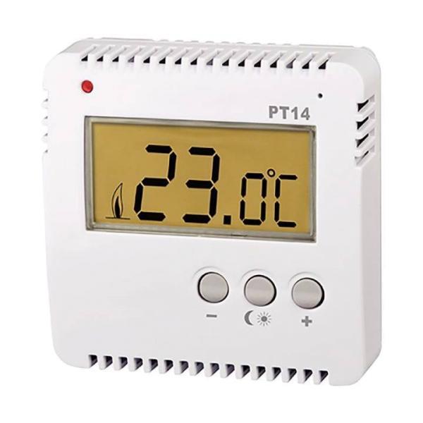 Knebel Thermostat kabelgebunden Aufputz PT14, digital, einfach, 230 V 16 A - 80-PT14 Selfio