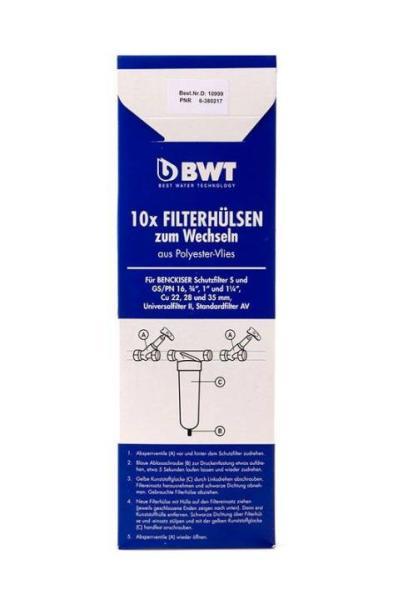 BWT Wechselbox mit Ersatz-Filtervlies DN 20-32, 10 Vliese