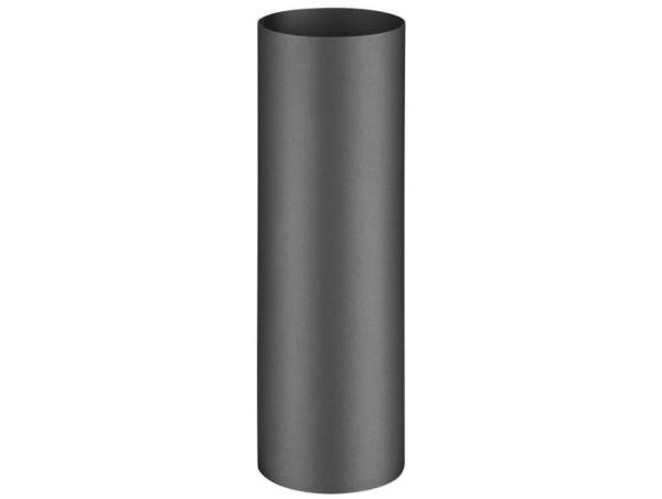 Rauchrohr für Pelletofen 250 mm, anthrazit, Ø 80 mm Frontansicht - 110208251 Selfio