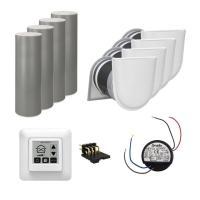 Viessmann Wohnungspaket Zu-/Abluftsystem 4x Vitovent 100-D weiß - Lieferumfang - 4 x Z014868 Vitovent 100-D, Typ H00E A45 1 x ZK02709 Bedienteil Touch 4 x...