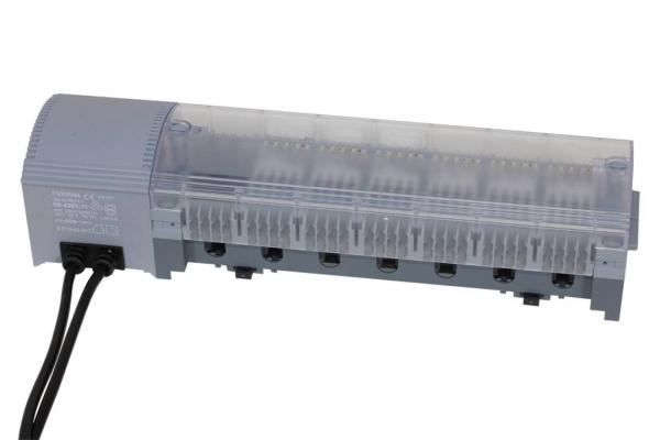 Modulanschlussleiste Alpha-Basis 24 V (AC) mit Trafo - 100730AB-24T Selfio