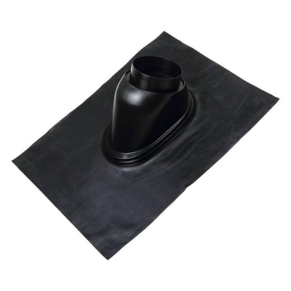 Universaldachpfanne DN 150, 500 x 625 , Kunststoff passend für Dachdurchführung Megavent schräg, Ansicht seitlich Selfio