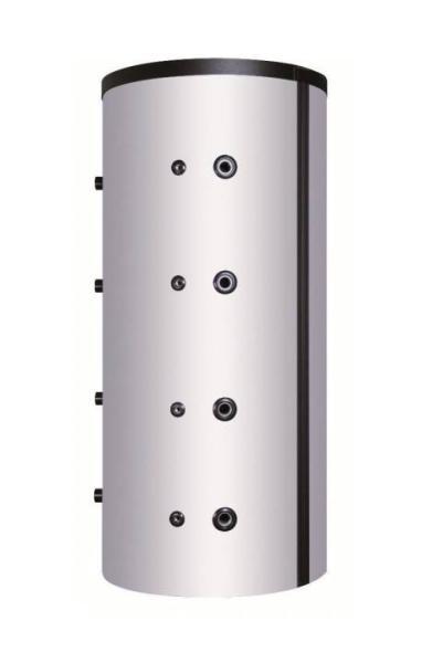 Pufferspeicher PSF mit Flansch Durchmesser 240 mm und 100 mm Isolierung 500 l